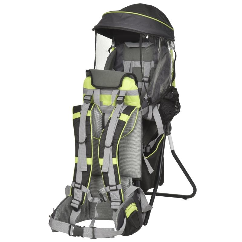 babydrager kinderdrager reis kinderdrager voor 6-36 maanden tot 20 kg aluminium groen