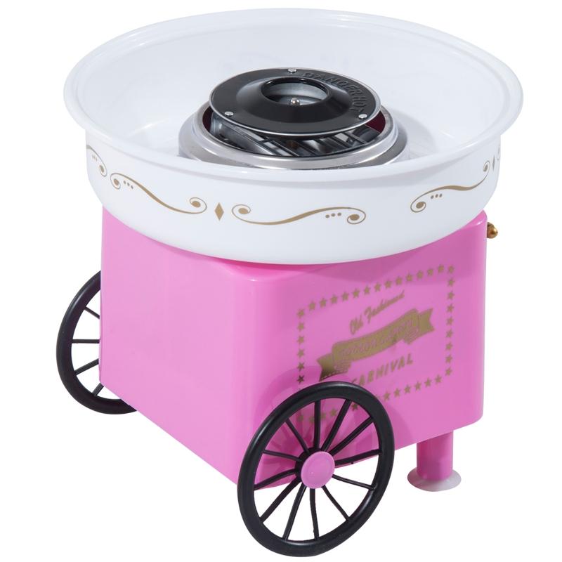 Suikerspinmachine suikerspinapparaat suikerspin machine 450 watt roze/rood