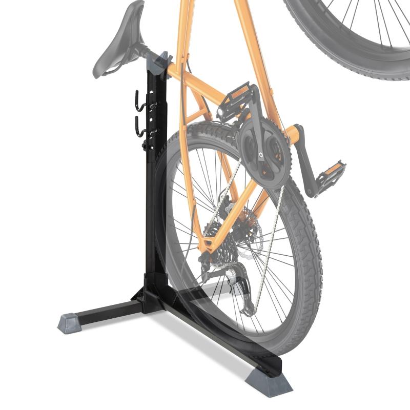 Fietsstandaard universele fietsstandaard met 2 haken in hoogte verstelbaar zwart