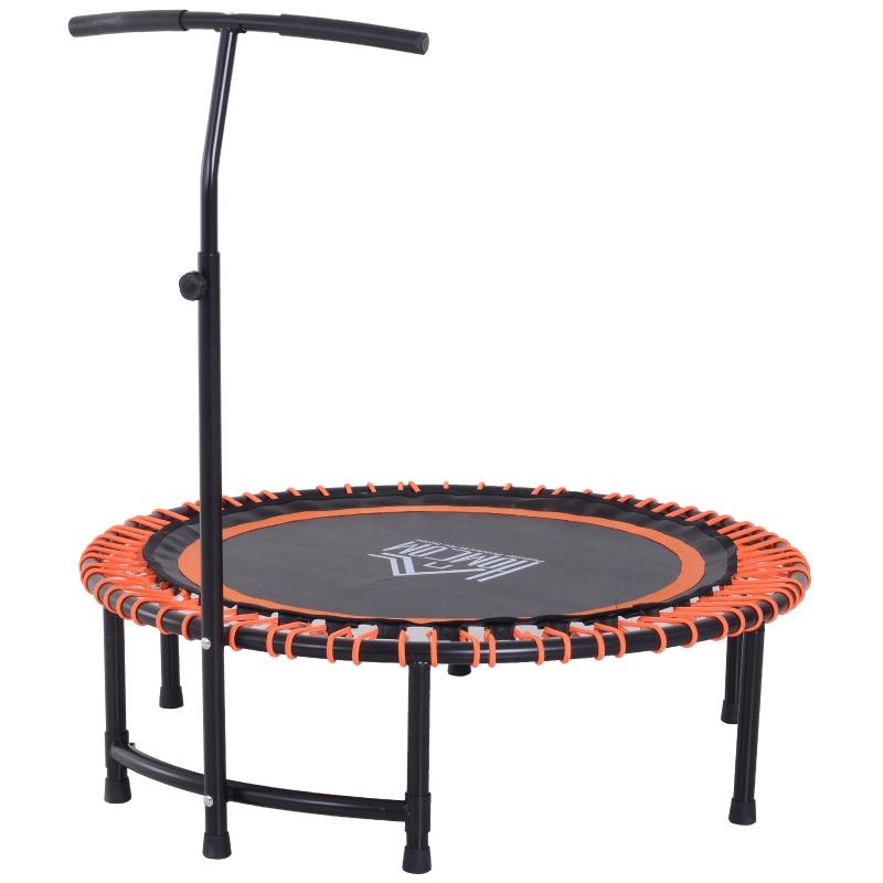 Trampoline fitness trampoline yoga tuintrampoline in hoogte verstelbaar met handgreep