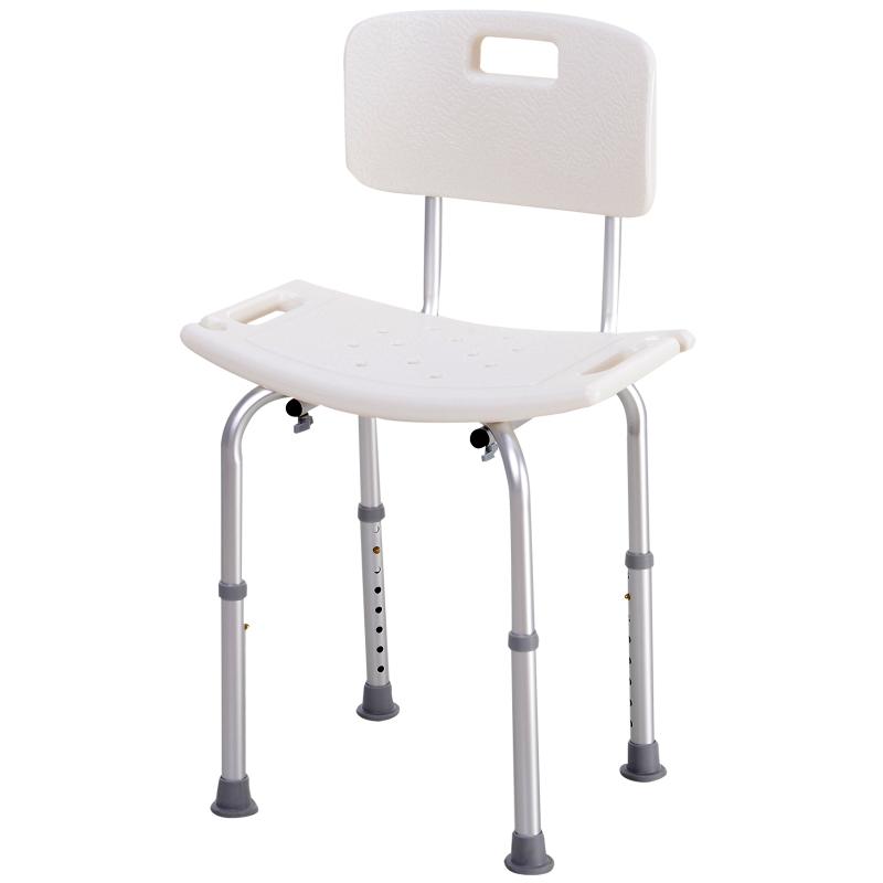 HOMCOM douchekruk met rugleuning douchestoel badkruk badstoel 2 modellen