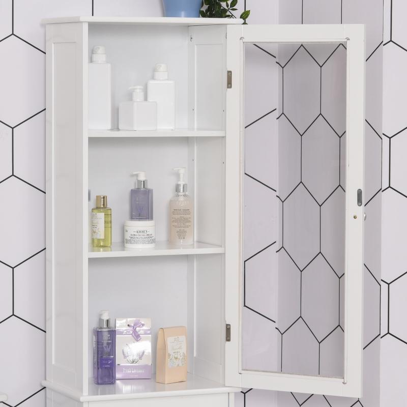 badkamerkast badkamermeubel vitrine keukenkast met lade MDF acryl wit