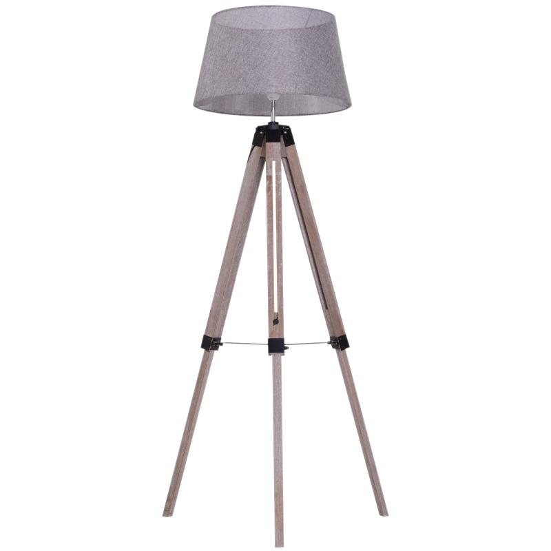 staande lamp vloerlamp stalamp tripod in hoogte verstelbaar hout Scandinavisch