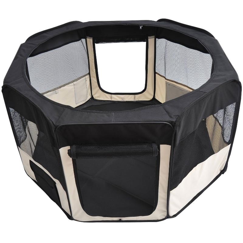 Puppy-uitloop ren buitenverblijf dierenbox box puppyhek ∅120 x 58 h cm
