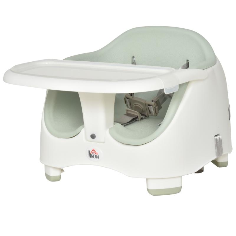 stoelverhoger voor kinderen zittingverhoger babyzitje voor voeren in hoogte verstelbaar PP PU groen