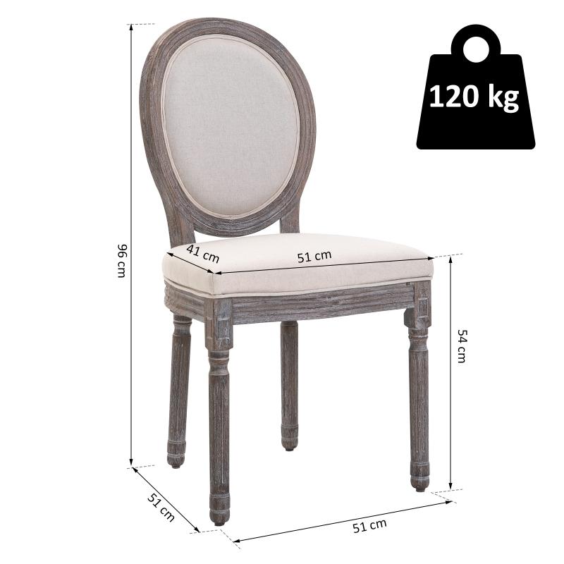 Set van 2 eetkamerstoelen retrodesign keukenstoel gestoffeerde stoel met vloermatten