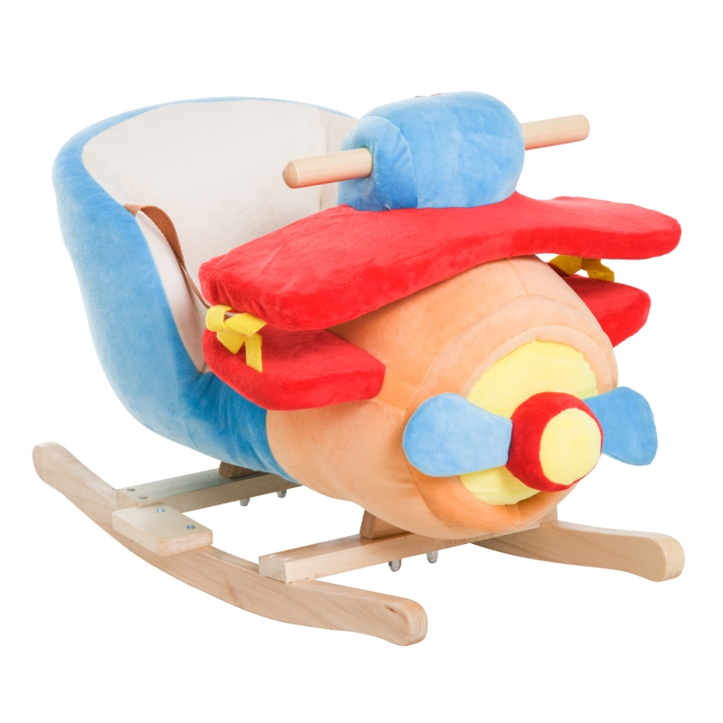 Kinderen schommelpaard muziek schommeldier schommel schommelspeelgoed vliegtuig