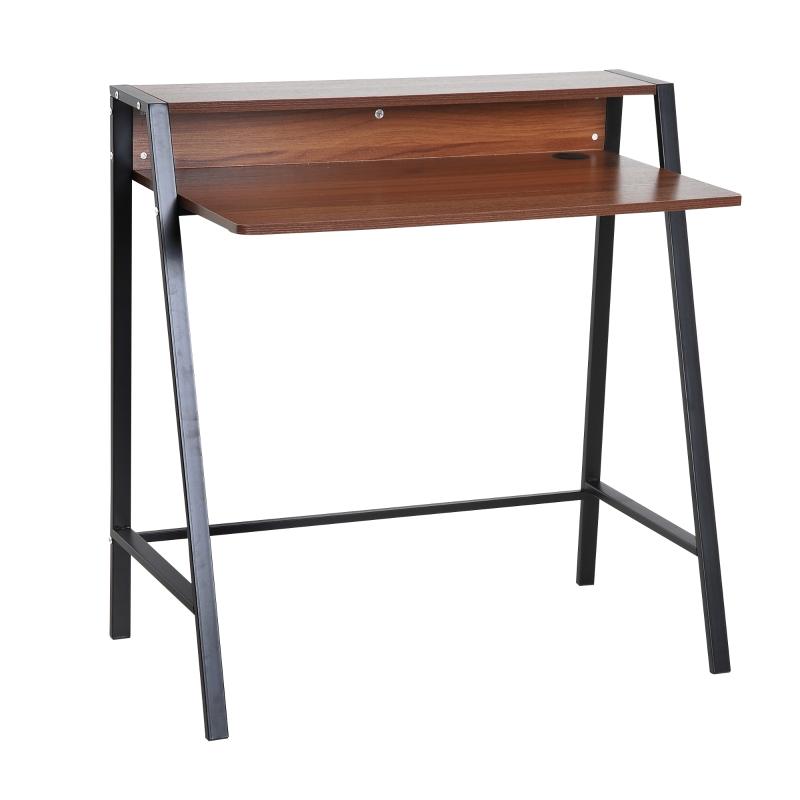 bureau, computertafel, lade, bureau, werktafel met kabeldoorvoer