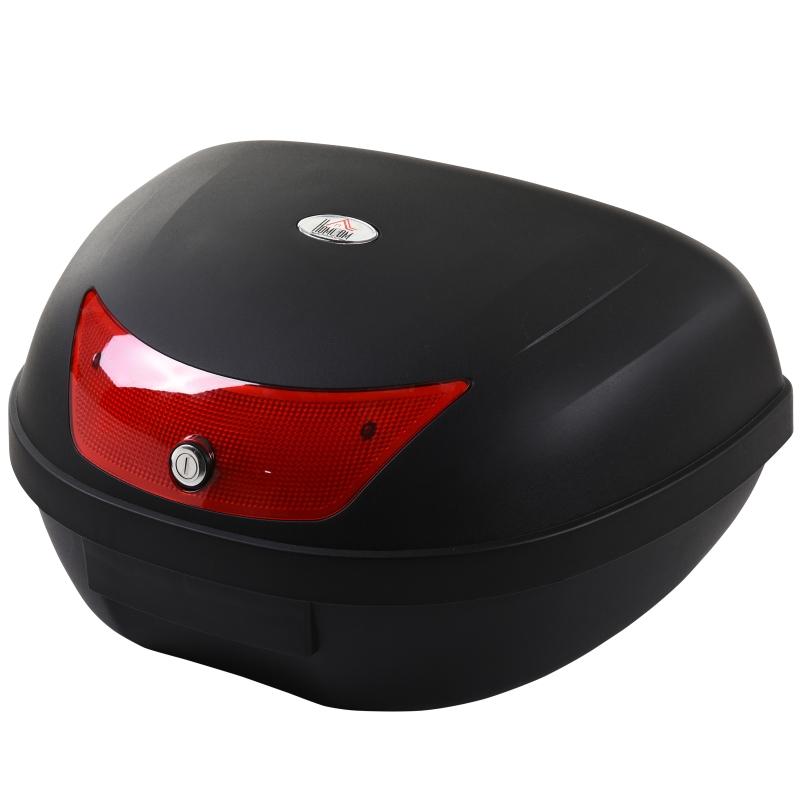 Motorfietskoffer koffer voor motoren scooters bromfietsen 48 L helmkoffer zwart