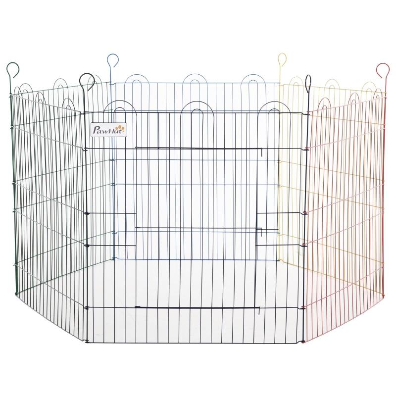 Puppy-uitloop voor huisdieren 6 stuks puppy hek box buiten ren metaal