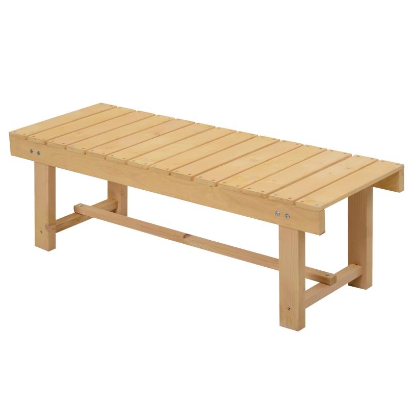 Tuinbank 2-zits zitbank houten bank tuinmeubelen massief hout naturel 1,1 m