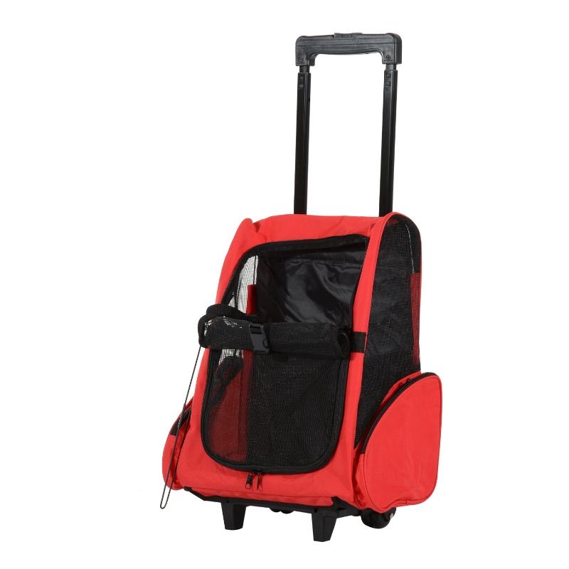 Hondentrolley transporttas draagtas voor dieren 2i-n-1 rugzak trolley