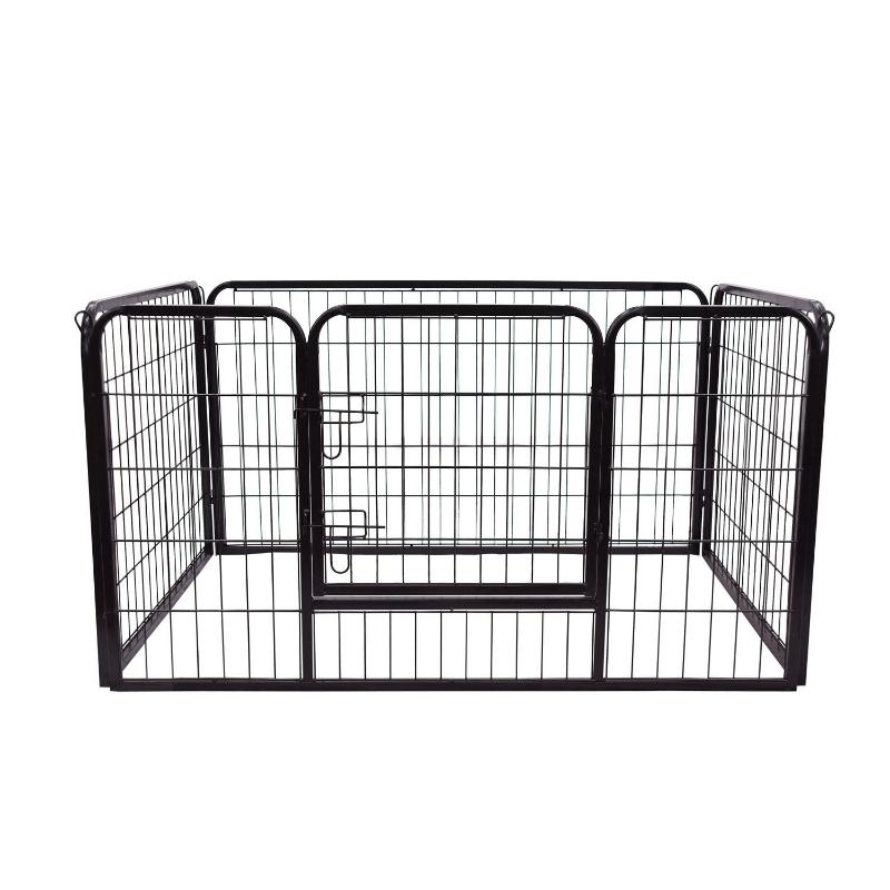 Puppy-uitloop ren buitenverblijf box puppy afrastering 125 x 80 x 70 cm staal zwart