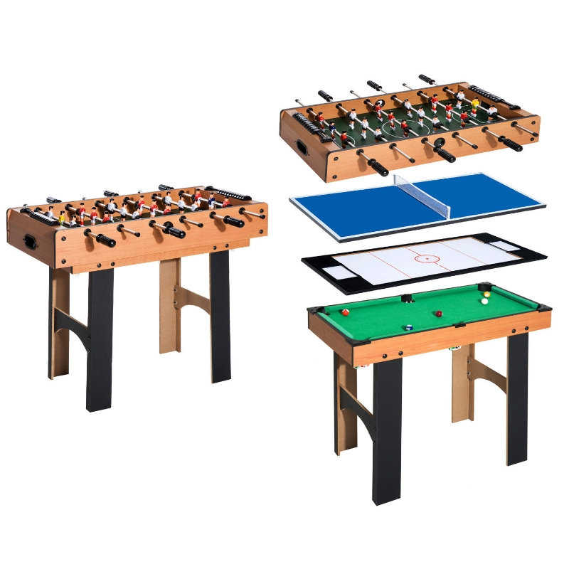 4-in-1 multispeltafel tafelvoetbal speltafel biljart tafeltennis hockeytafel hockey