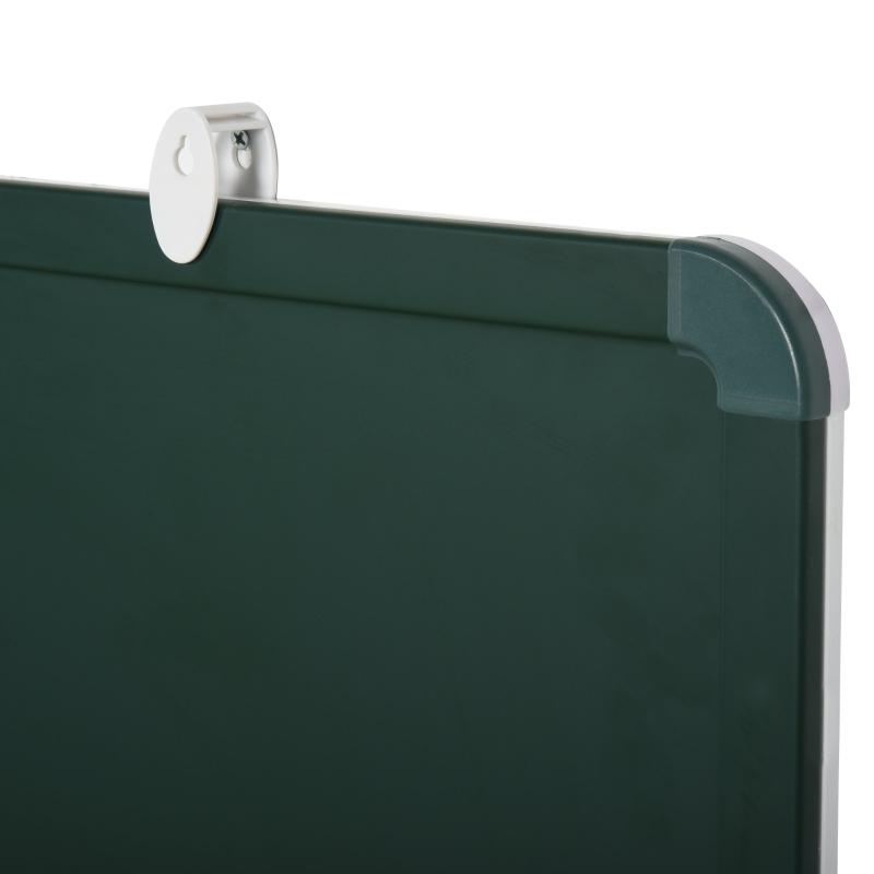 Dubbelzijdig whiteboard & krijtbord met pennenbakje memobord wit + groen