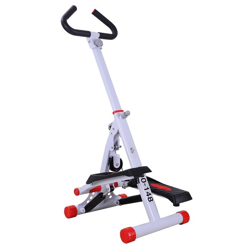 Stepper met handgrepen sidestepper hometrainer inklapbaar LCD-display staal