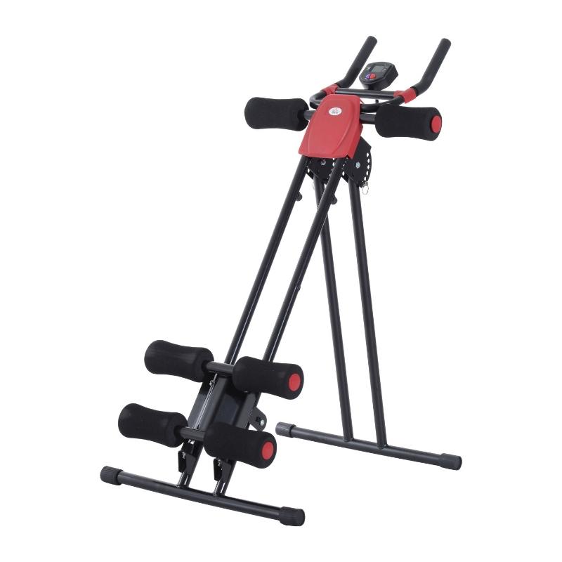 Rugtrainer buiktrainer buikspieren sportuitrusting fitness LCD-scherm inklapbaar
