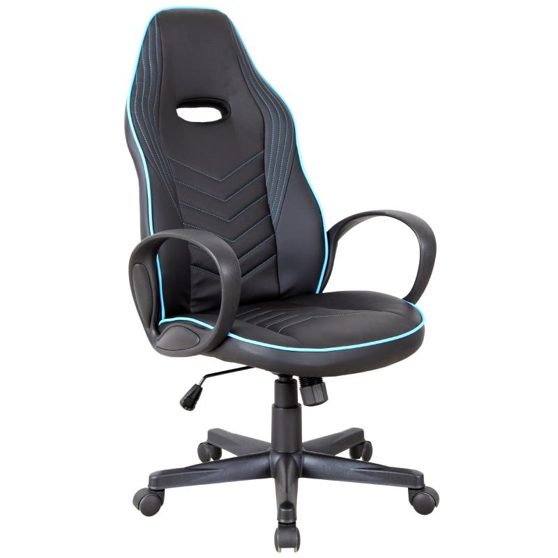 Kantoorstoel in hoogte verstelbaar draaistoel gamingstoel kantelfunctie PU 3 kleuren
