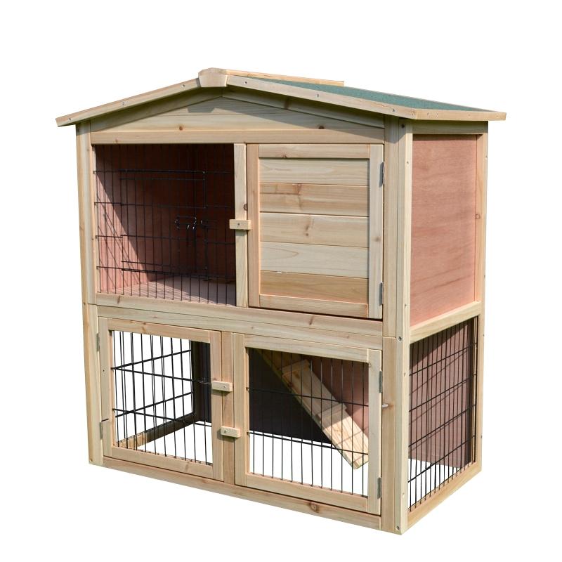 Konijnenhok konijnenkooi kippenhok hok voor konijnen cavia's 3 deuren