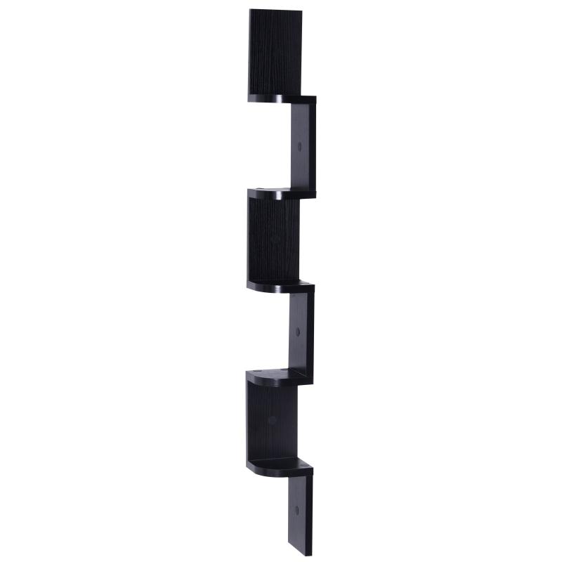 wandstelling hangplank boekenplank hoekplank zigzagplank kantoorplank hout 2 kleur