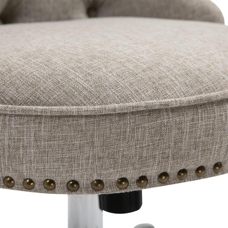 Draaistoel gestoffeerde stoel directiestoel 150 kg draagvermogen, in hoogte verstelbaar linnen