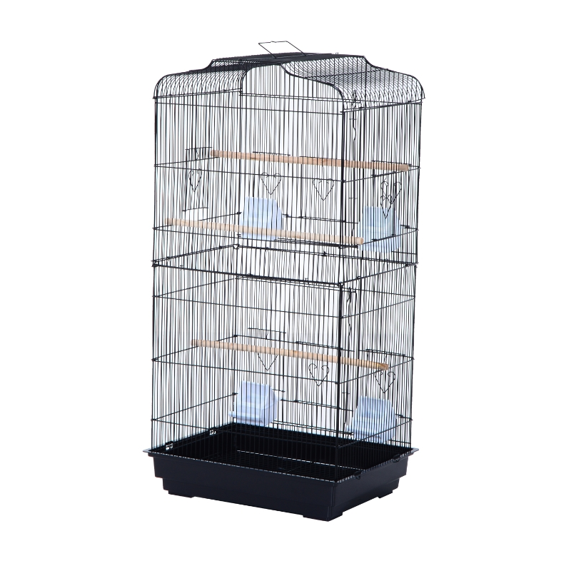 Vogelkooi volière vogelhuis metalen volière voor vogels met standaard zwart