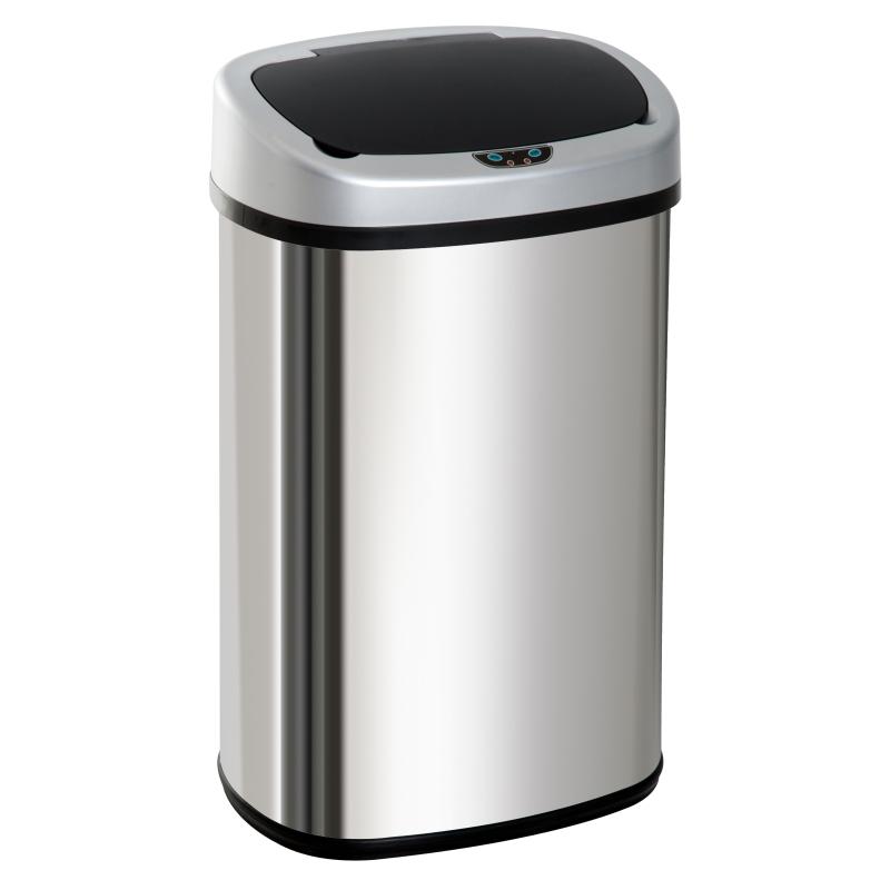 Automatische afvalbak vuilnisbak met infraroodsensor keuken zilver 58 L / 48 L