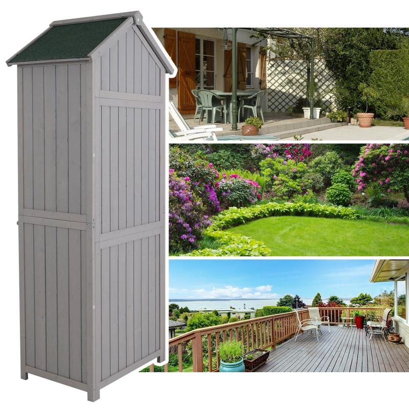 Tuinhuisje met planken gereedschapsschuur gereedschapsschuur shingledak venster hout