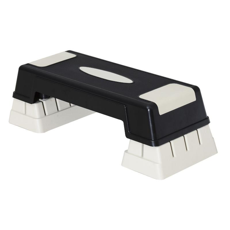 Stepboard stepper aerobics fitness hometrainer drievoudig in hoogte verstelbaar zwart