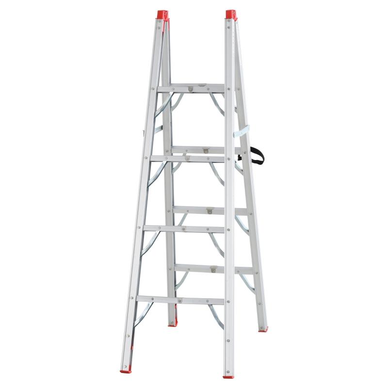 Inklapbare ladder vouwladder staladder aluminium zilver