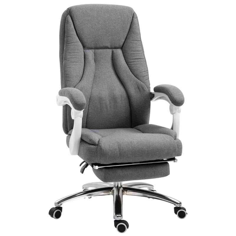 Kantoorstoel massage draaistoel massagestoel directiestoel in hoogte verstelbaar grijs