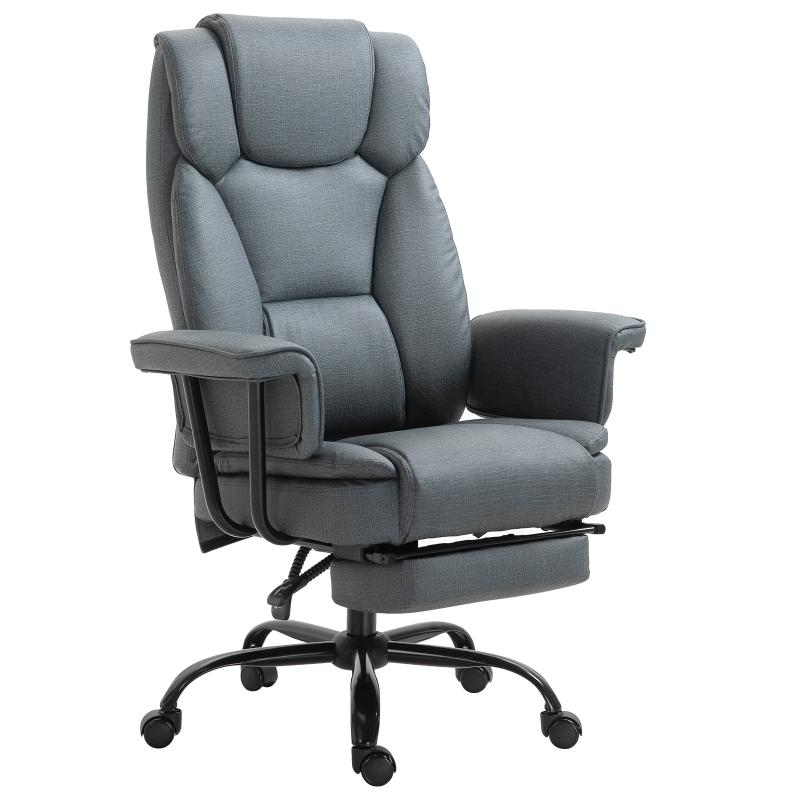 Bureaustoel in hoogte verstelbaar directiestoel computerstoel met voetensteun 360° PU