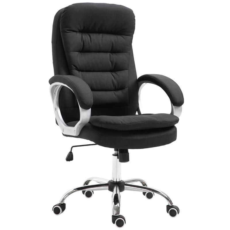 Kantoorstoel kantelfunctie ergonomisch 360° draaistoel in hoogte verstelbaar 2 kleuren