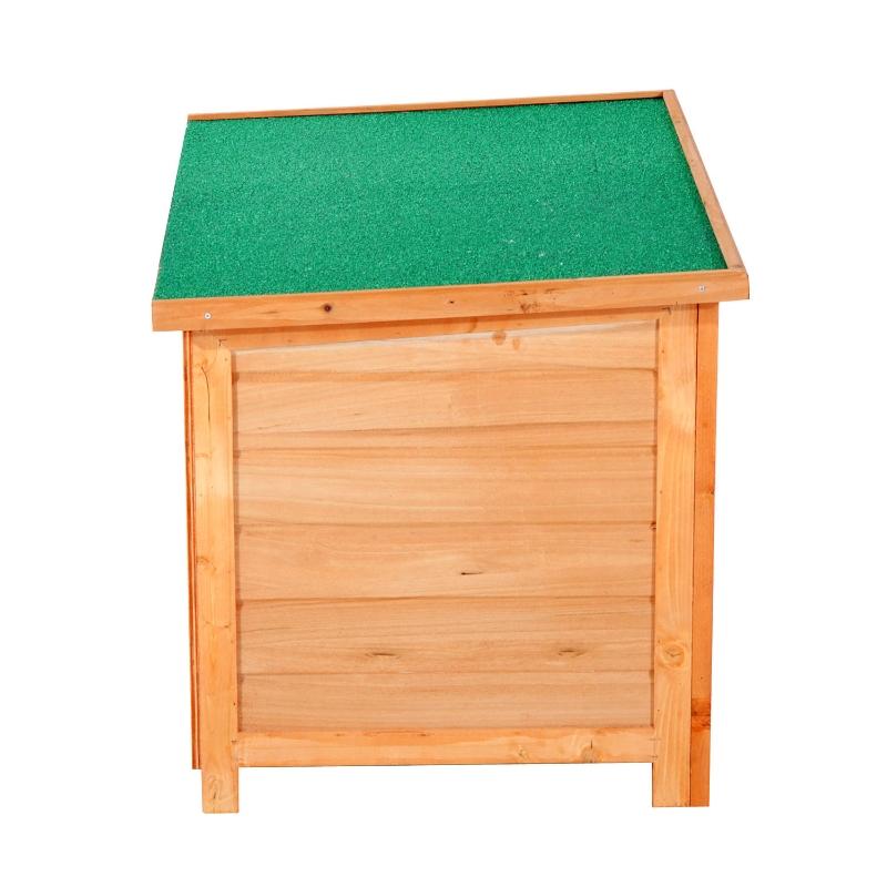 weervast hondenhok hondenhuis hondengrot scharnierend dak vurenhout