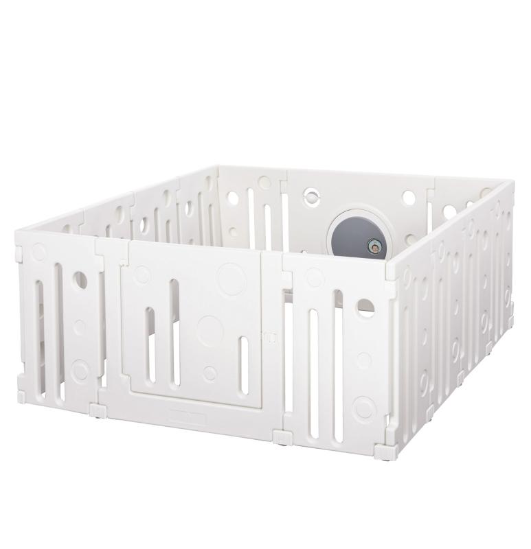 babybox 14 elementen beschermhek met deur en spel HDPE PP wit