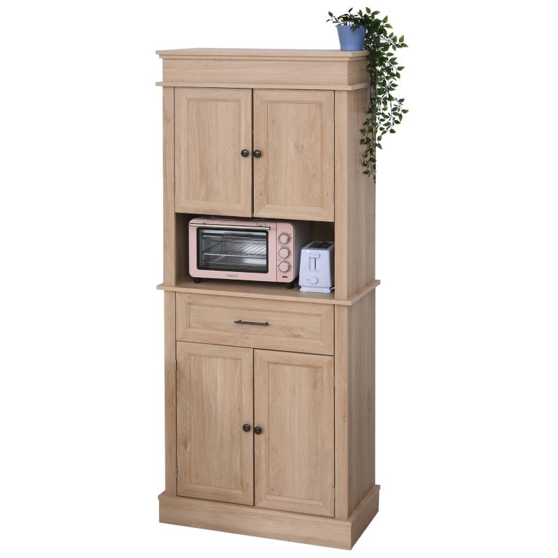 Keukenkast met lade hoge kast verstelbaar aflegvlak MDF