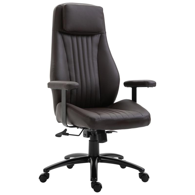 Kantoorstoel draaistoel directiestoel in hoogte verstelbaar ergonomisch eco-leer bureaustoel