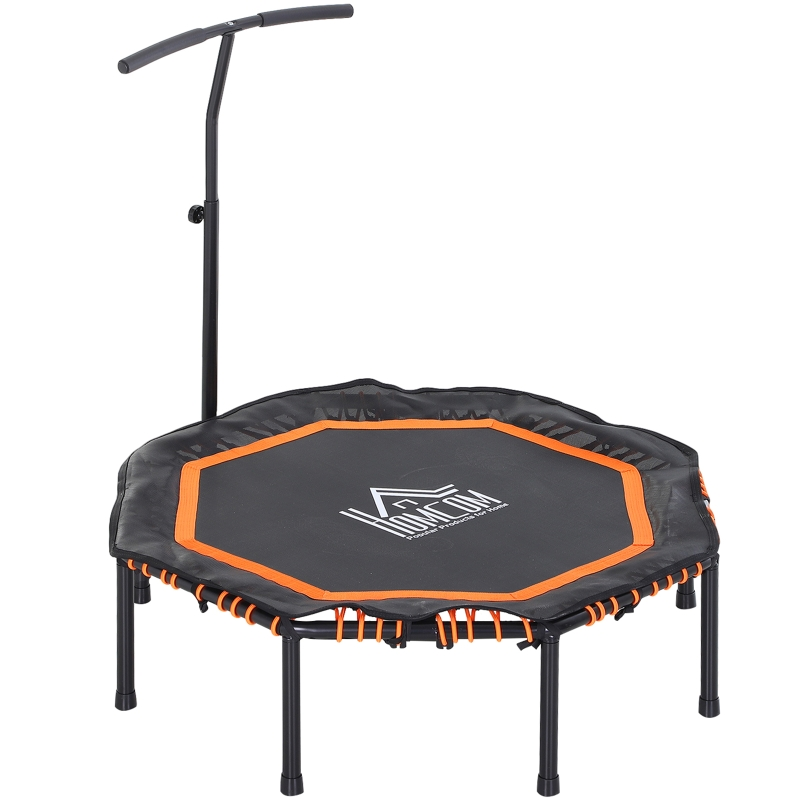 Fitness trampoline voor kinderen en volwassenen tuintrampoline oranje + zwart