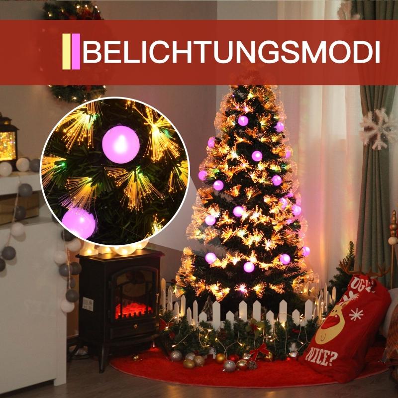 kerstboom dennenboom met LED 2 lichtkleuren 170 takpunten Ø60 x 150 h cm
