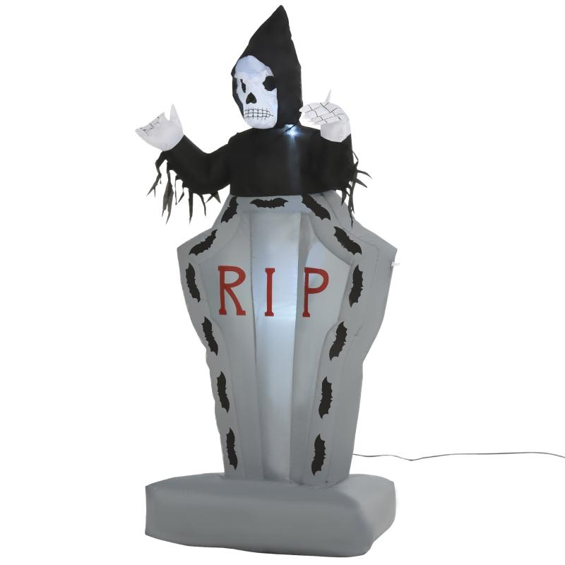 Halloween opblaasbaar grafstenen geest gloeiende spookachtige decoratie 180 cm