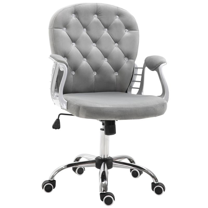 Ergonomische bureaustoel directiestoel gestoffeerde rugleuning grijs