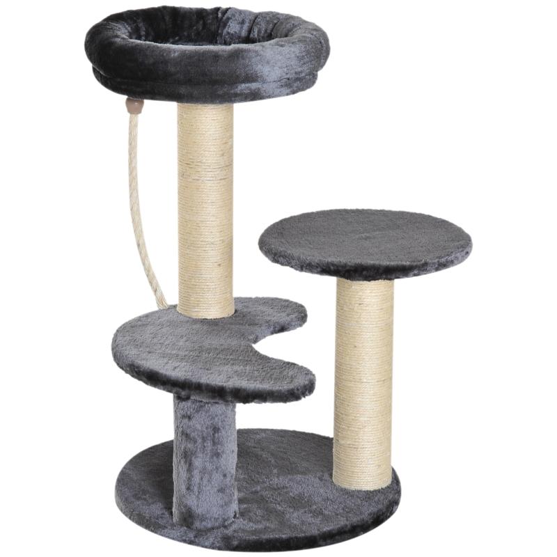 Kattenboom klimboom speelboom kattenbed kattenkrabboom grijs