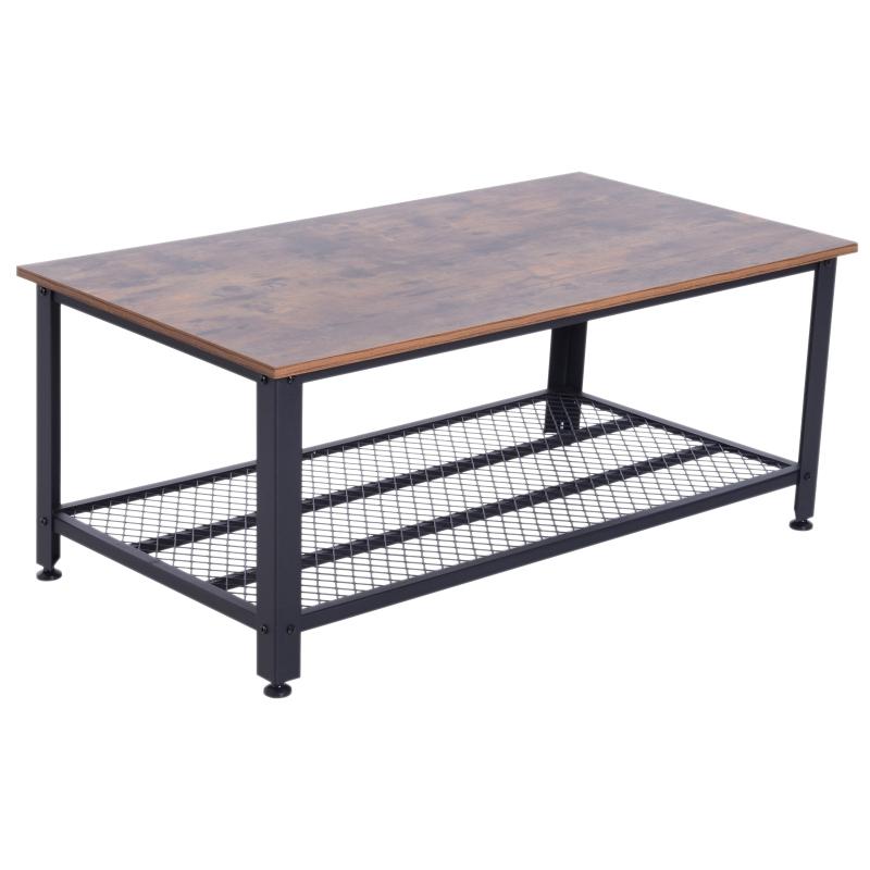 salontafel salontafel met opbergruimte bijzettafel voor woonkamer metalen frame retro