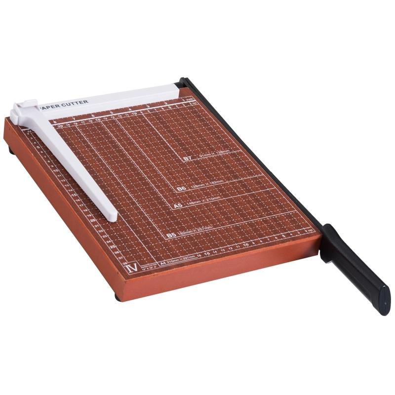 Papiersnijmachine tot A4 papiersnijder metaal bruin