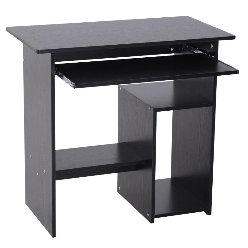 Computertafel bureau kantoortafel speeltafel PC-tafel zwart