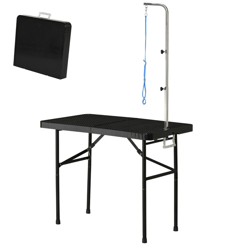trimtafel dierentrimtafel scheertafel verzorgingstafel voor honden inklapbaar zwart
