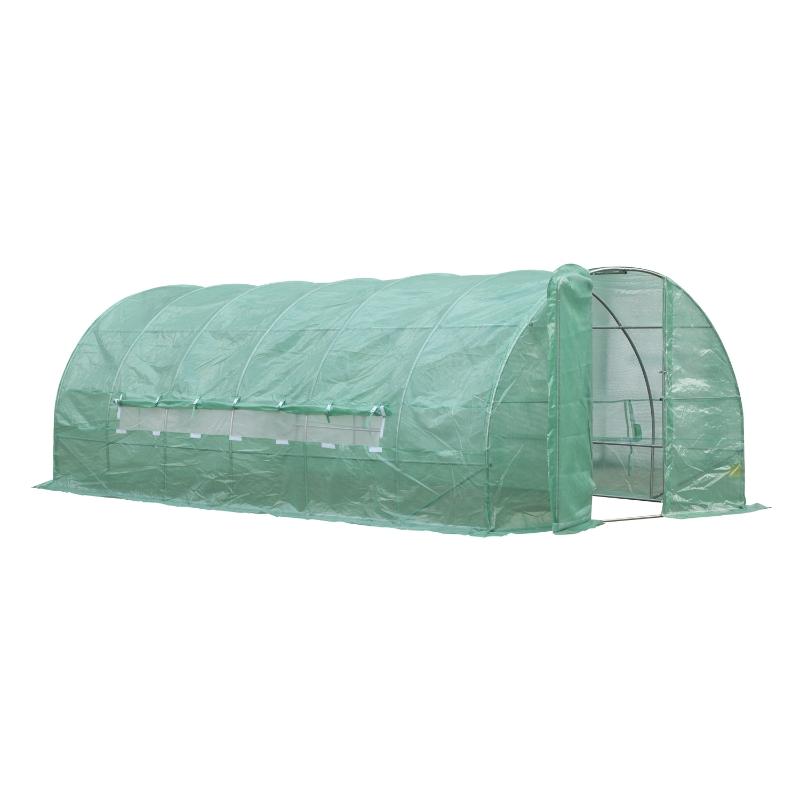Foliekas 18 m² kweekkas tomatenkas met raam gaasfolie
