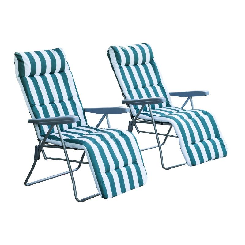 2 x klapstoel ligstoel ligbank relaxstoel tuinstoel ligmeubel bekleding