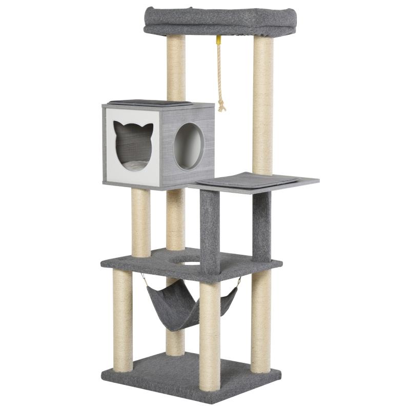 krabpaal kattenboom klimboom voor katten Multi-activity center E1 spaanplaat