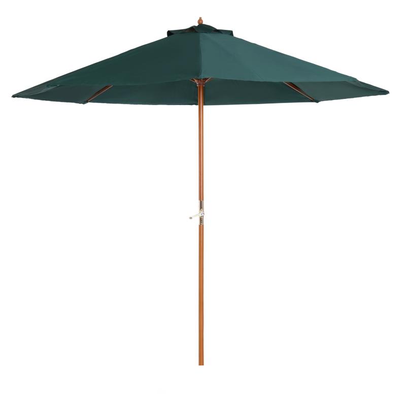 Houten zonnescherm houten parasol tuinscherm balkonparasol marktparasol